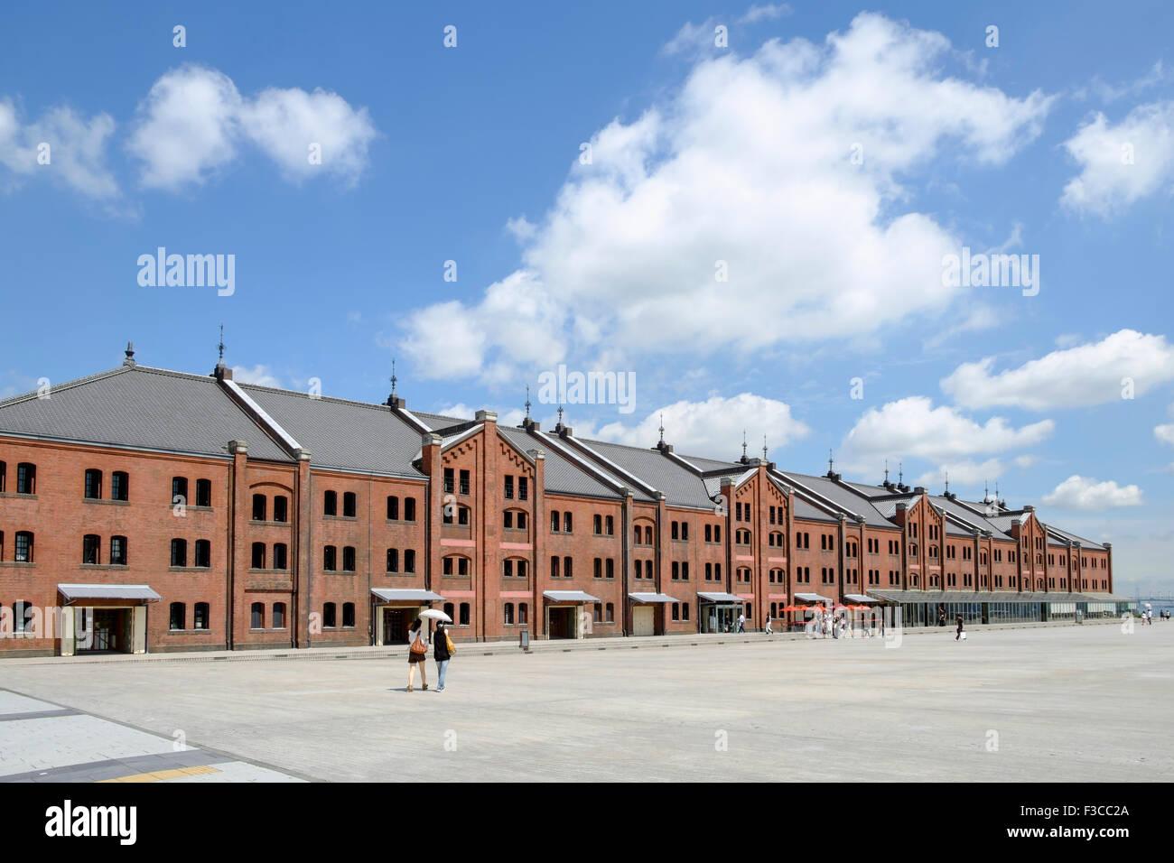 Historic Red Brick Warehouse in Minato Mirai distretto di Yokohama Giappone Immagini Stock
