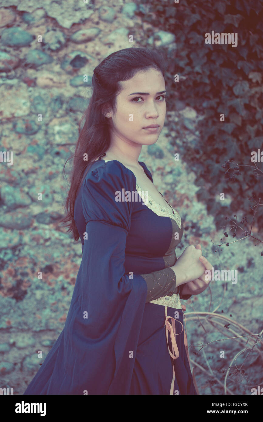 Bella donna medievale Immagini Stock