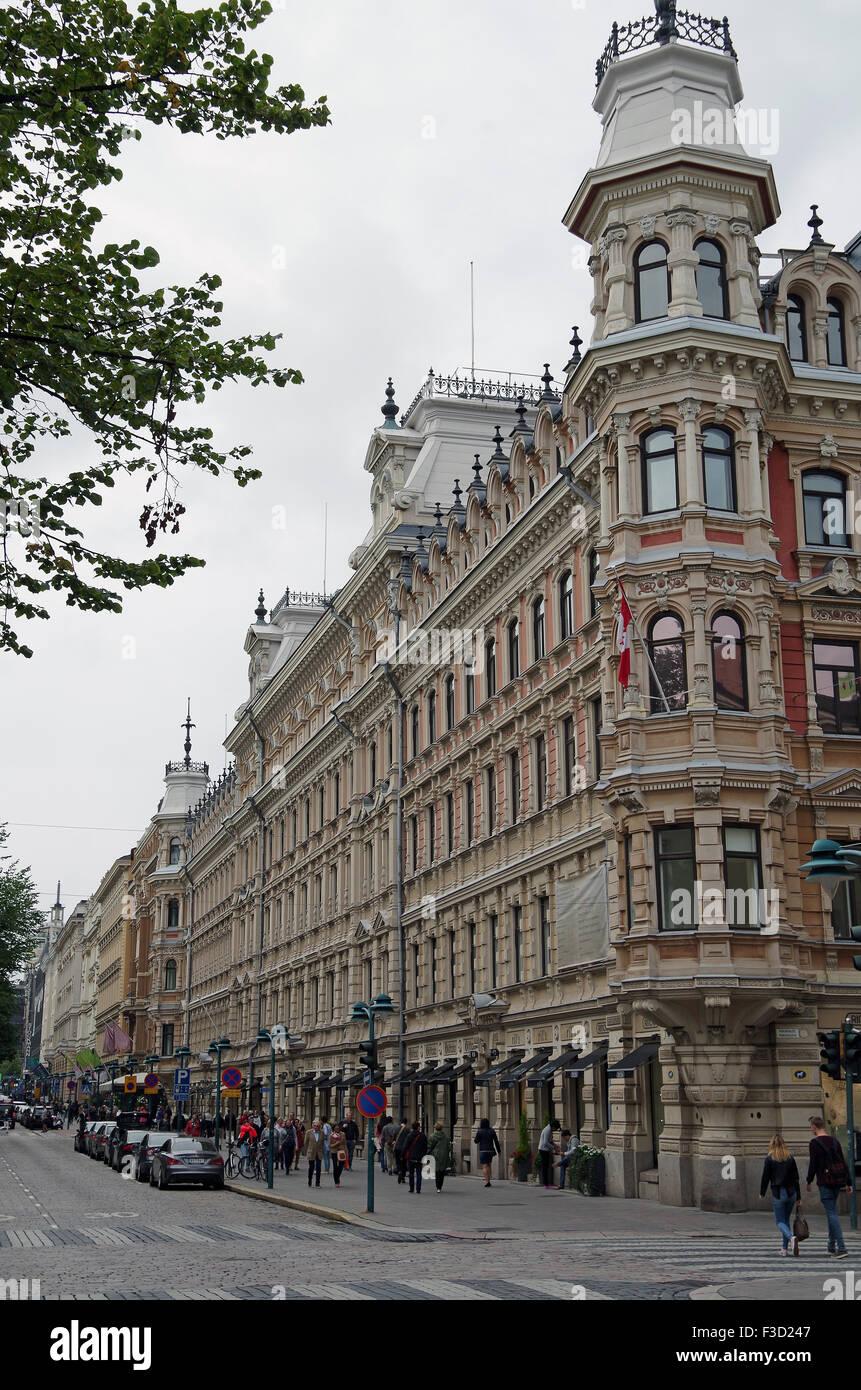 Helsinki, Grand fine C19 edificio, smart negozi Immagini Stock