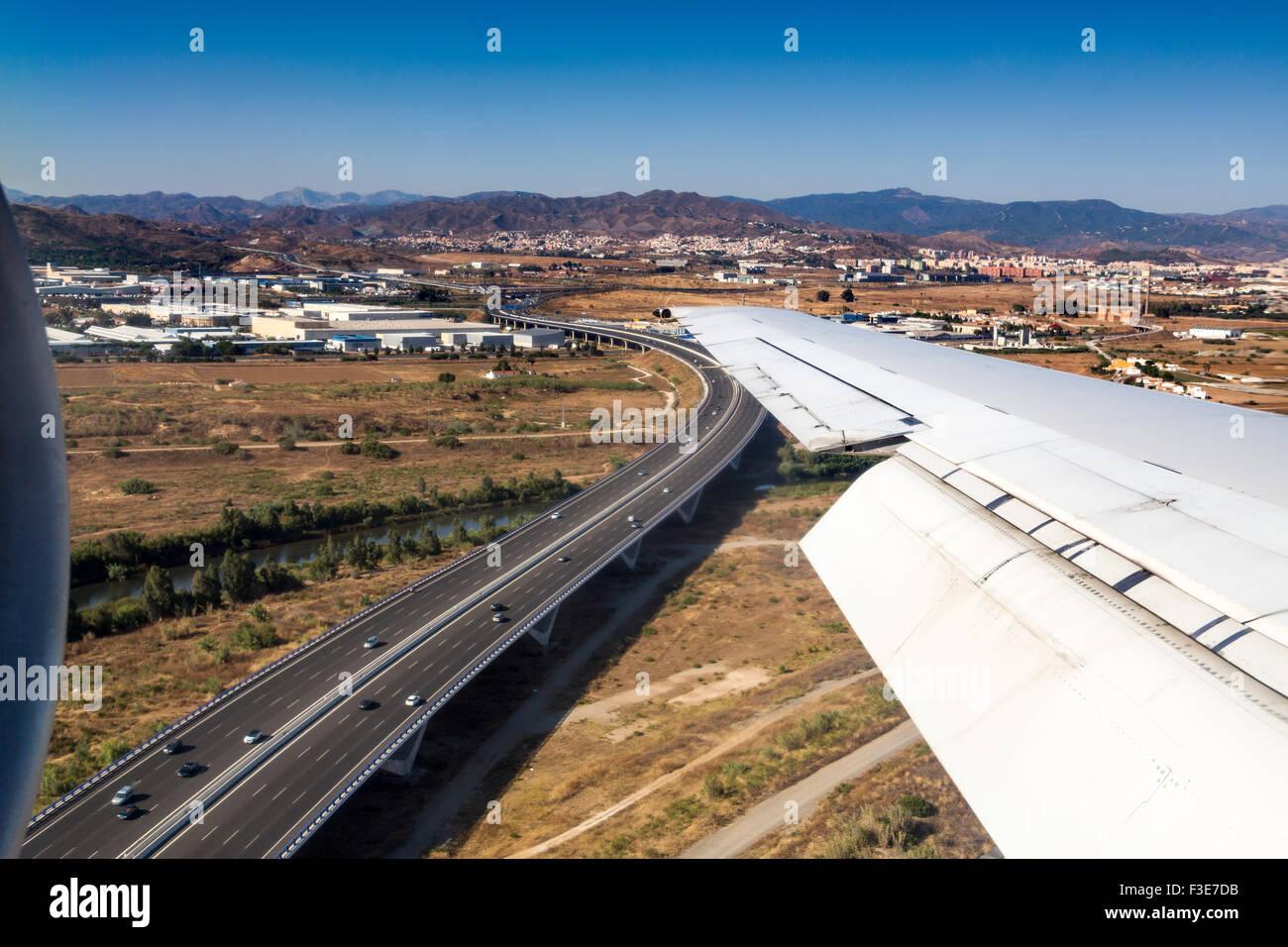 Superstrada da un piano Malaga Andalusia Spagna Immagini Stock