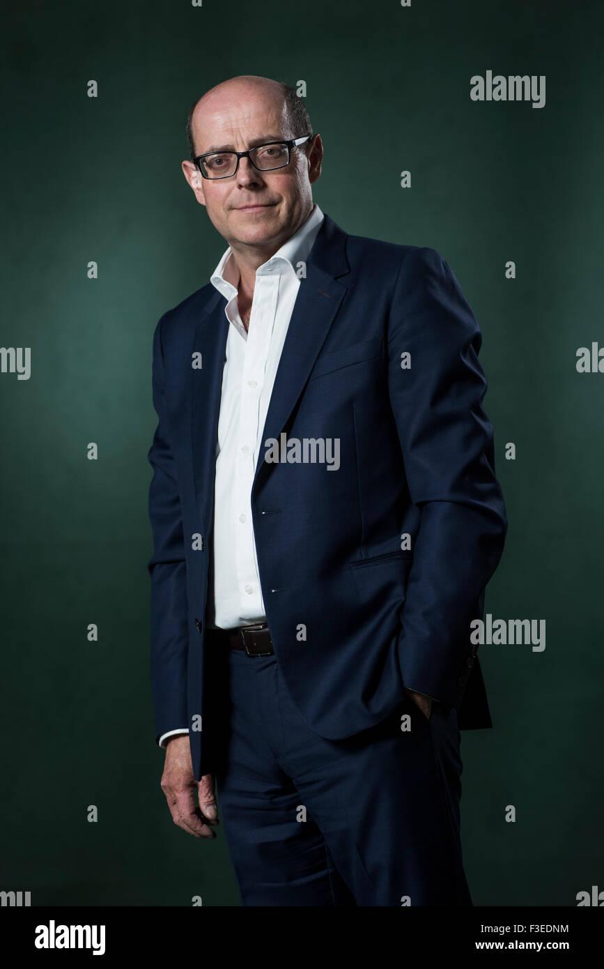 Giornalista britannico e editor politico per la BBC, Nick Robinson. Immagini Stock