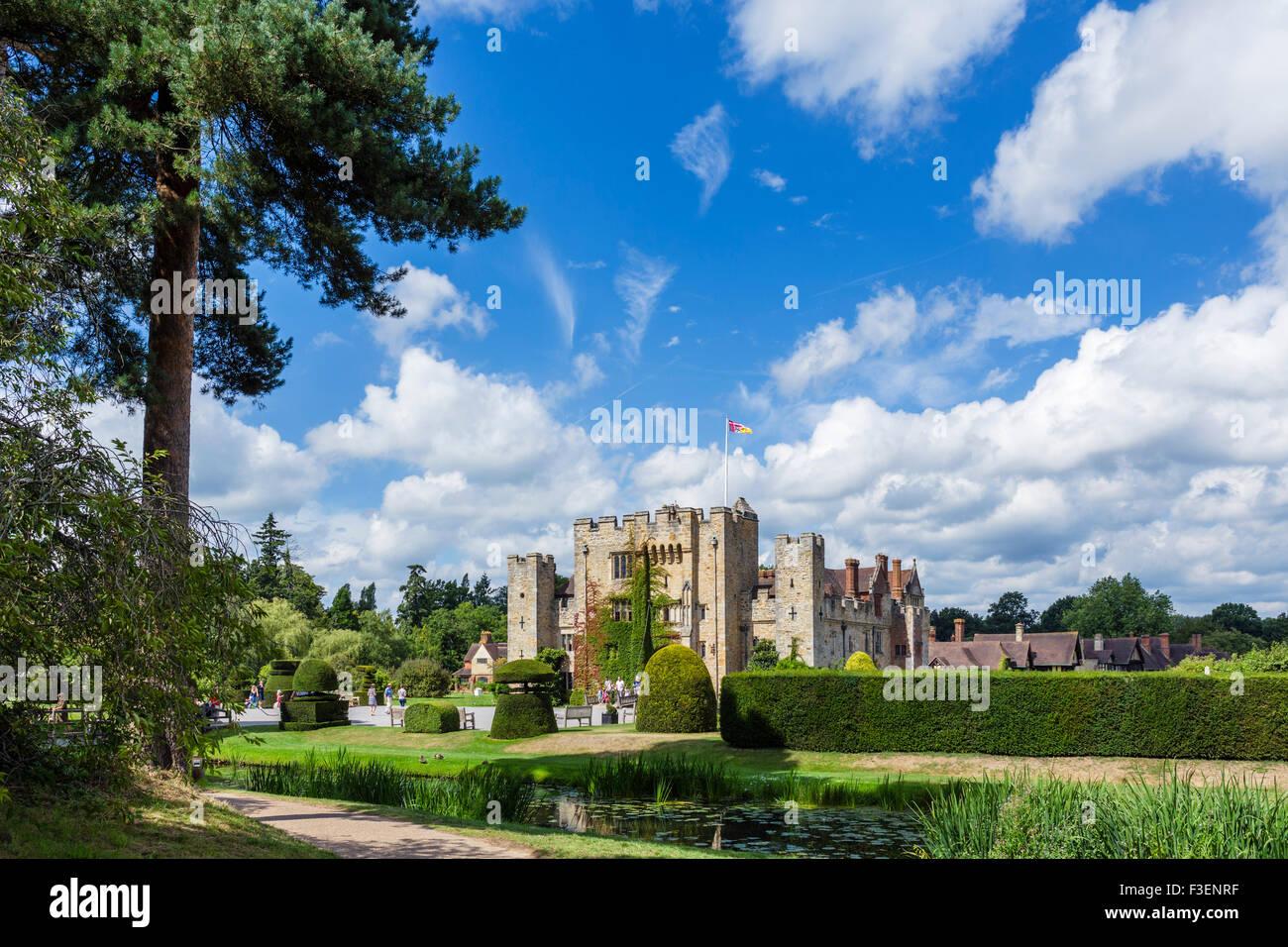 Il castello di Hever, casa di famiglia di Anne Boleyn, Hever, Kent, England, Regno Unito Immagini Stock