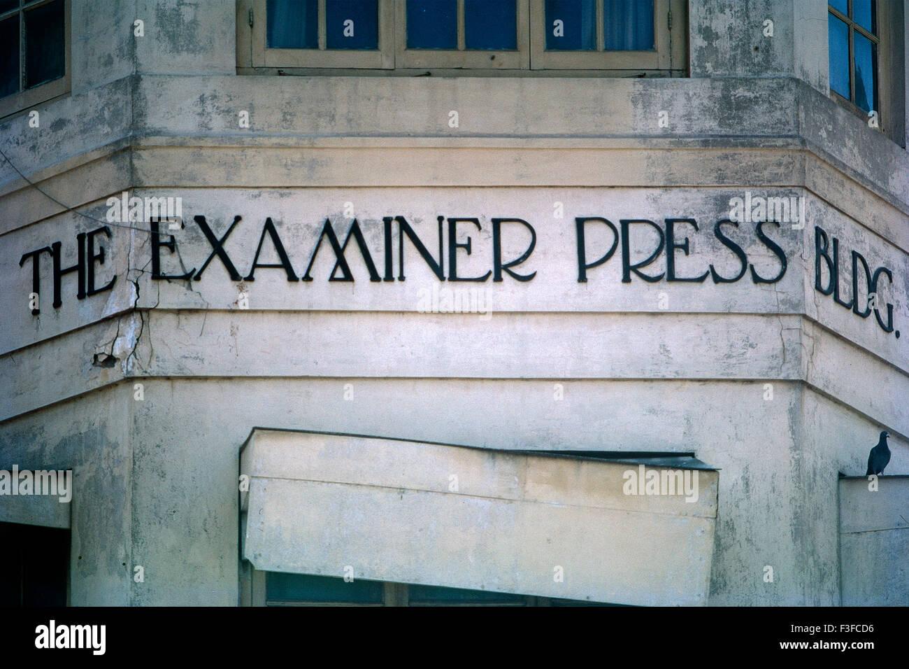 Art deco tipografia, Bombay, Mumbai, Maharashtra, India Immagini Stock