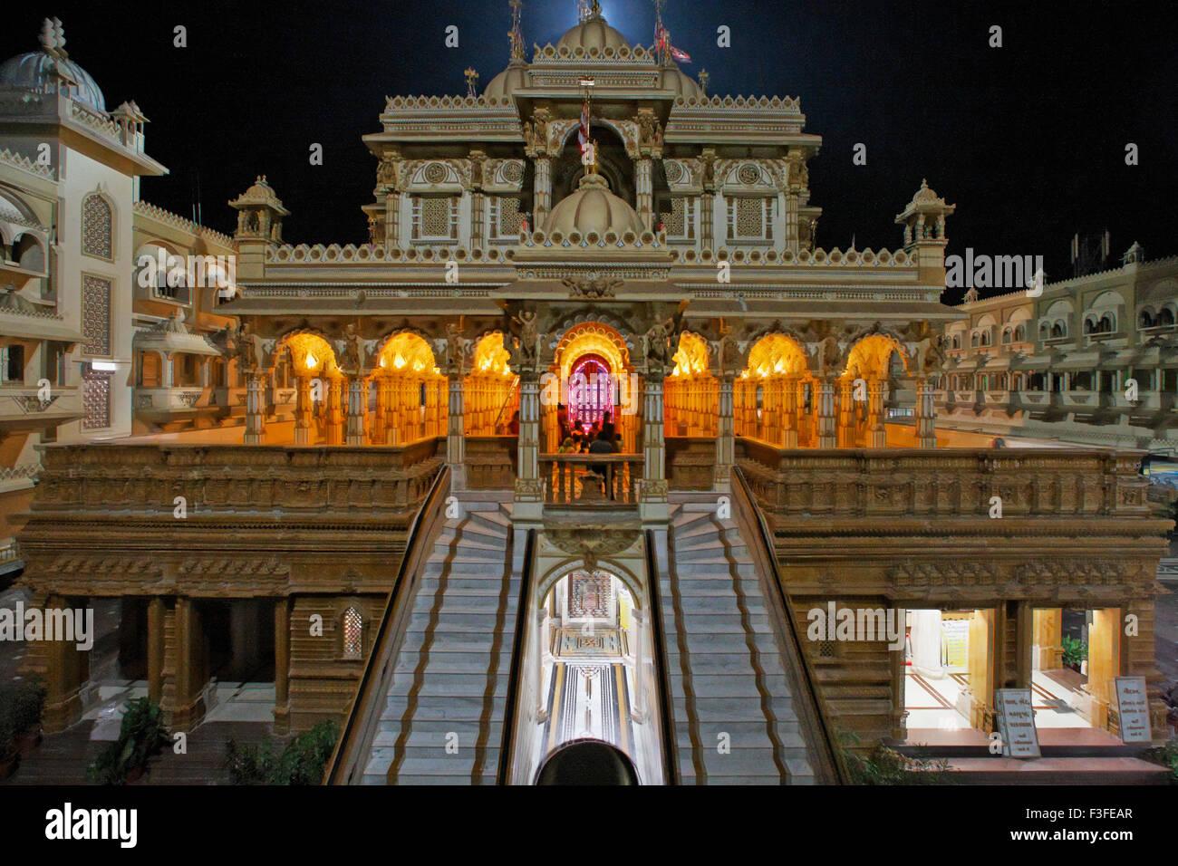 Patrimonio tempio di Swaminarayan quasi 100 anni costruito da Shashtriji maharaj ; Gujarat ; India Immagini Stock