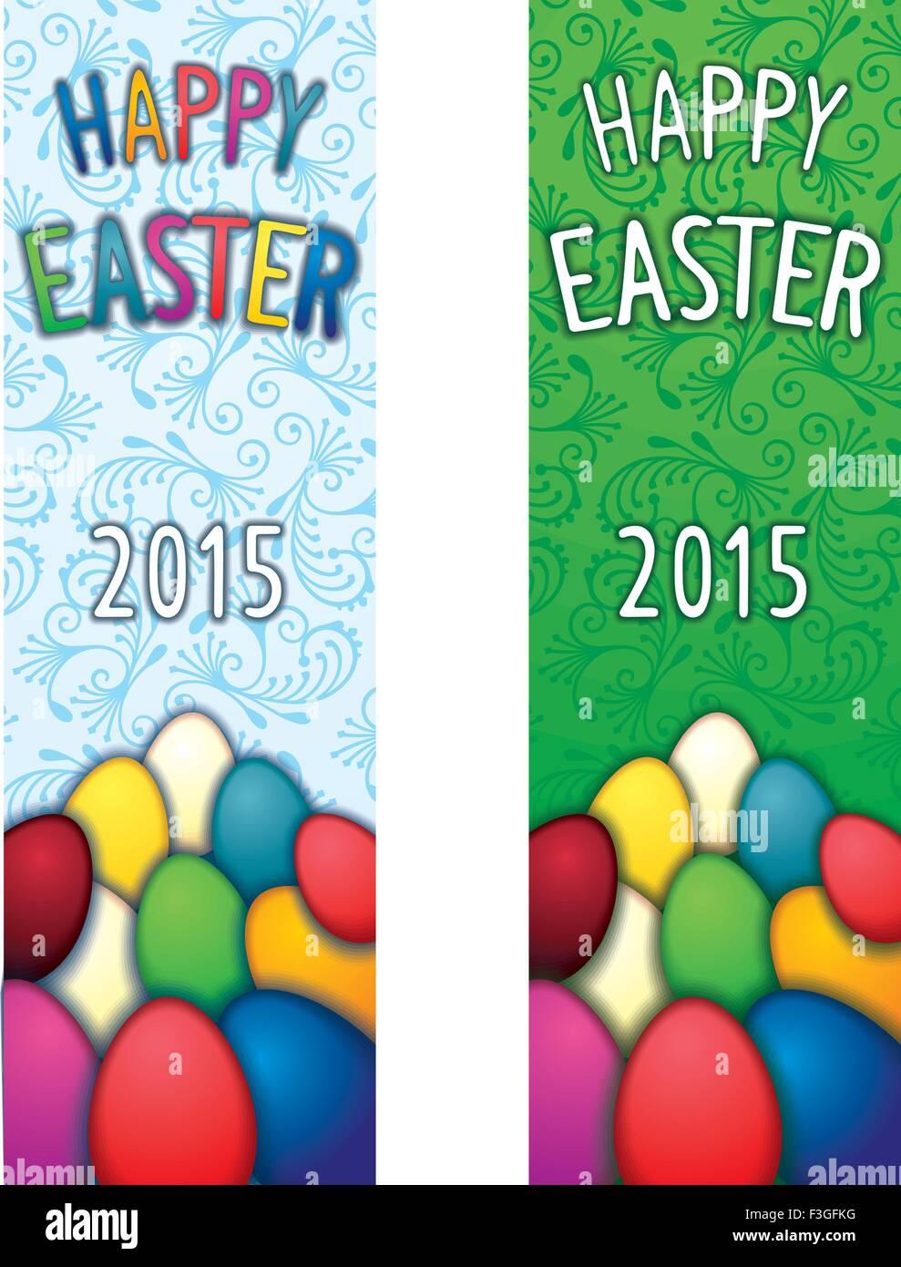 Festa di Pasqua flyer verticale Immagini Stock