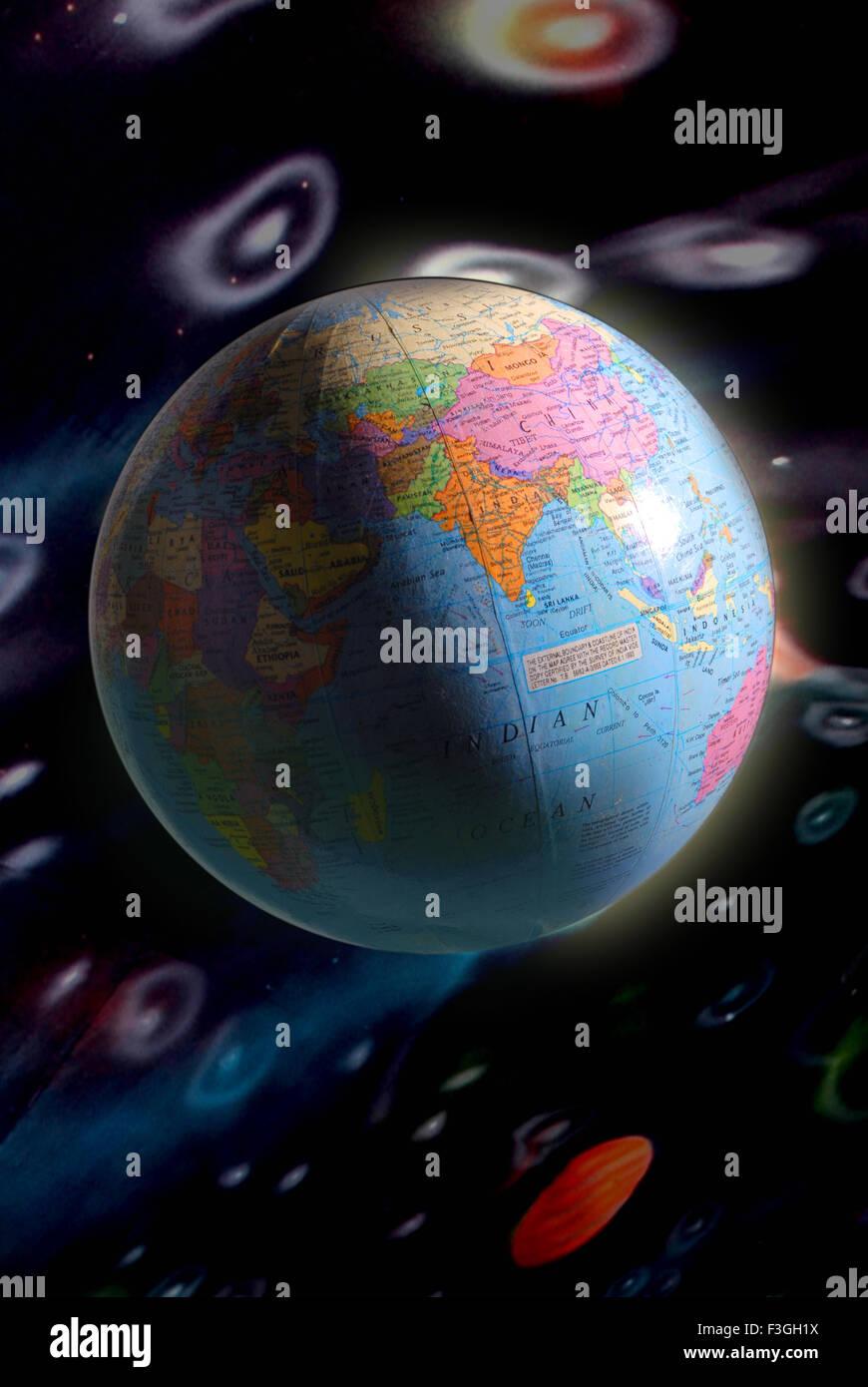 Concetto ; Pianeta ; globo; il mondo; messa a terra Immagini Stock
