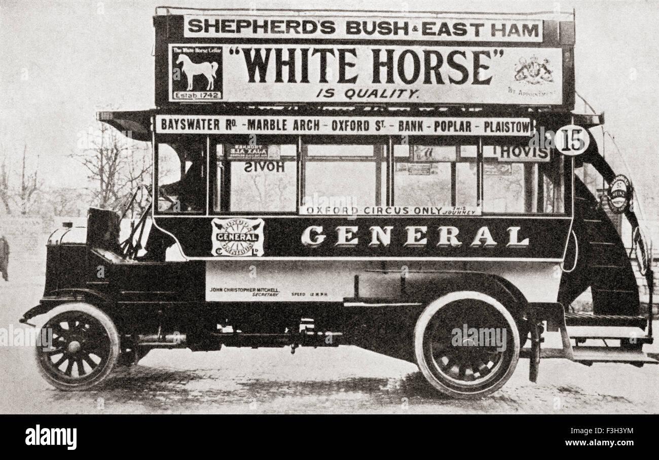 Un omnibus, c.1910. Immagini Stock