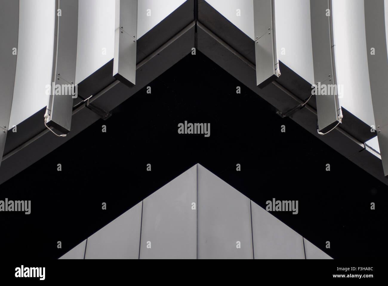 Forme geometriche causata dall'architettura dell'edificio Immagini Stock