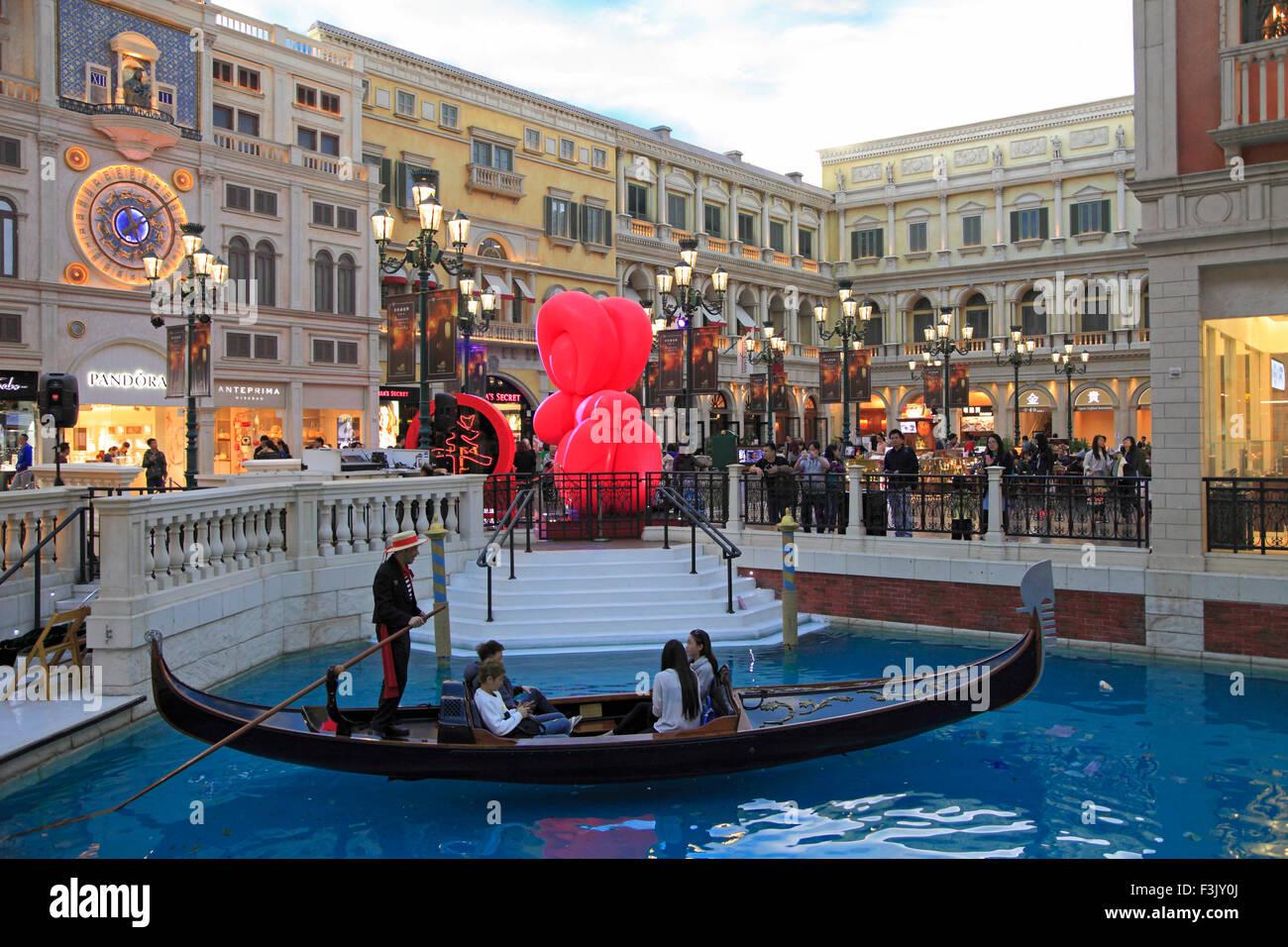 Cina, Macau, veneziana, Resort, hotel, casino, interna Immagini Stock