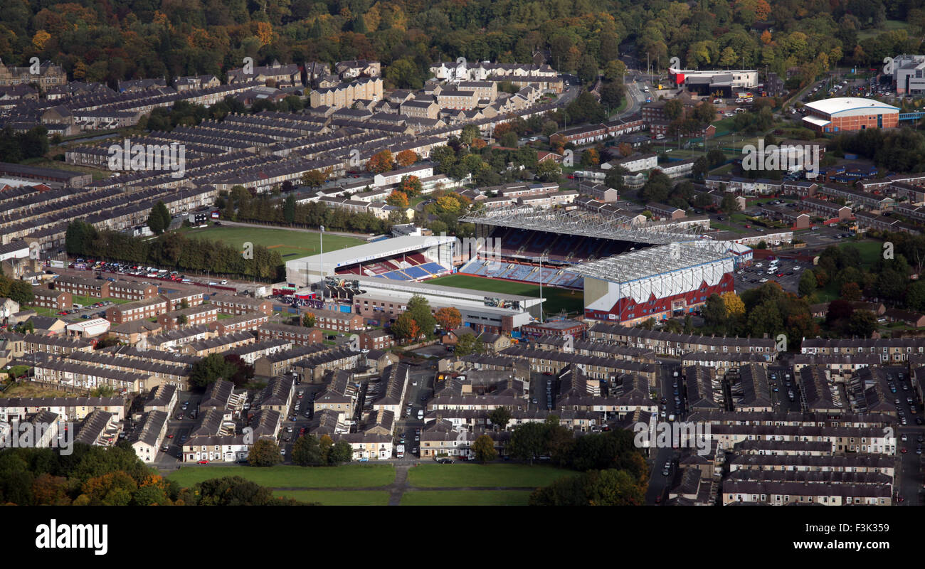 Vista aerea del Burnley FC Turf Moor Stadium, un regno Unito il campo di calcio Foto Stock