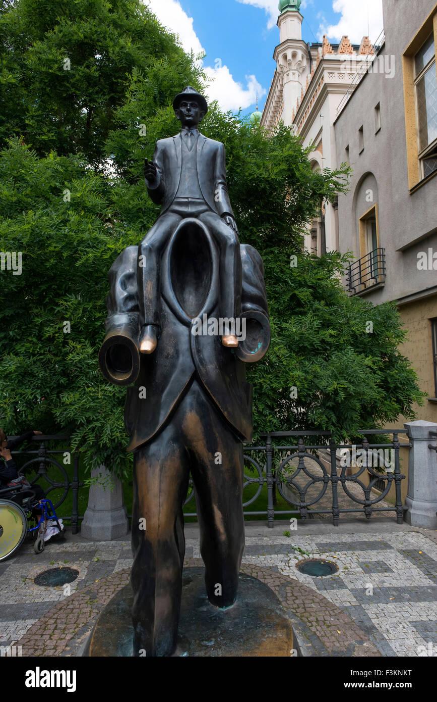 Memoriale di Franz Kafka da Jaroslav Rona, Praga, Repubblica Ceca Immagini Stock