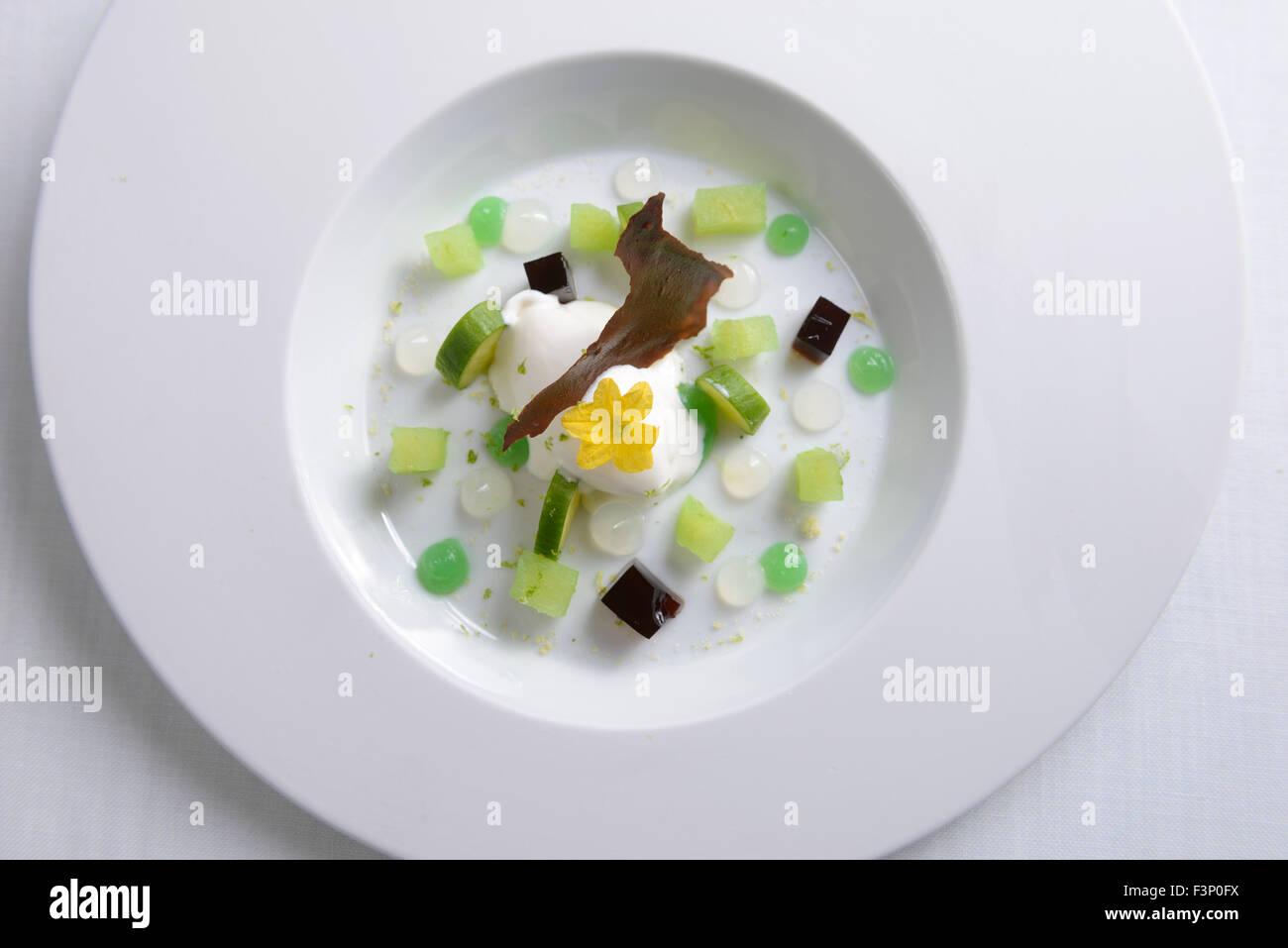 Dessert gourmet Immagini Stock
