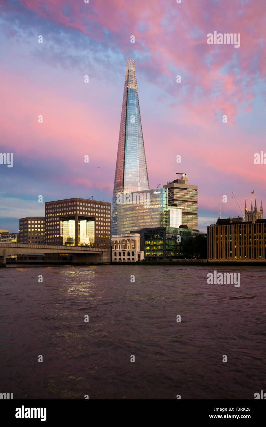 La Shard, Southwark, Londra, Regno Unito Immagini Stock