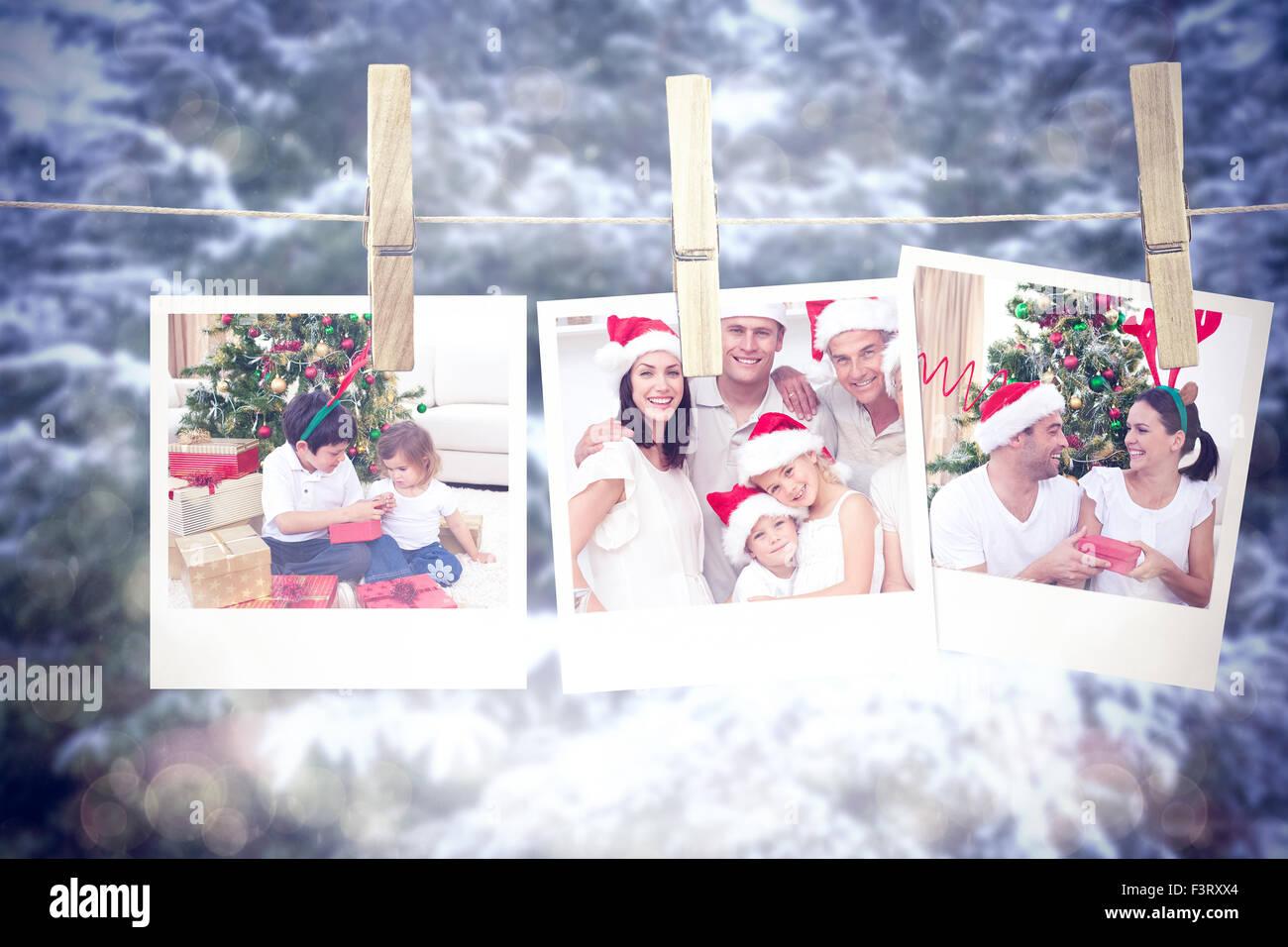 Regali Di Natale Fratello.Immagine Composita Di Felice Fratello E Sorella E Guardando I Regali