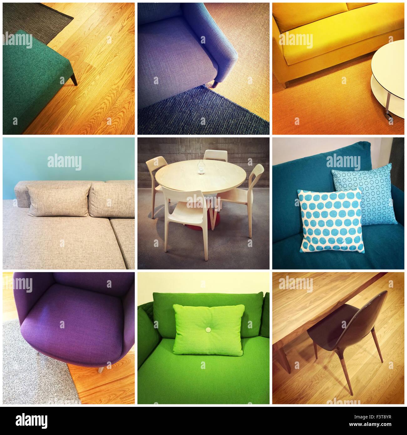 Arredamento Moderno Colorato.Colorato Arredamento Moderno Interior Design Collage Di