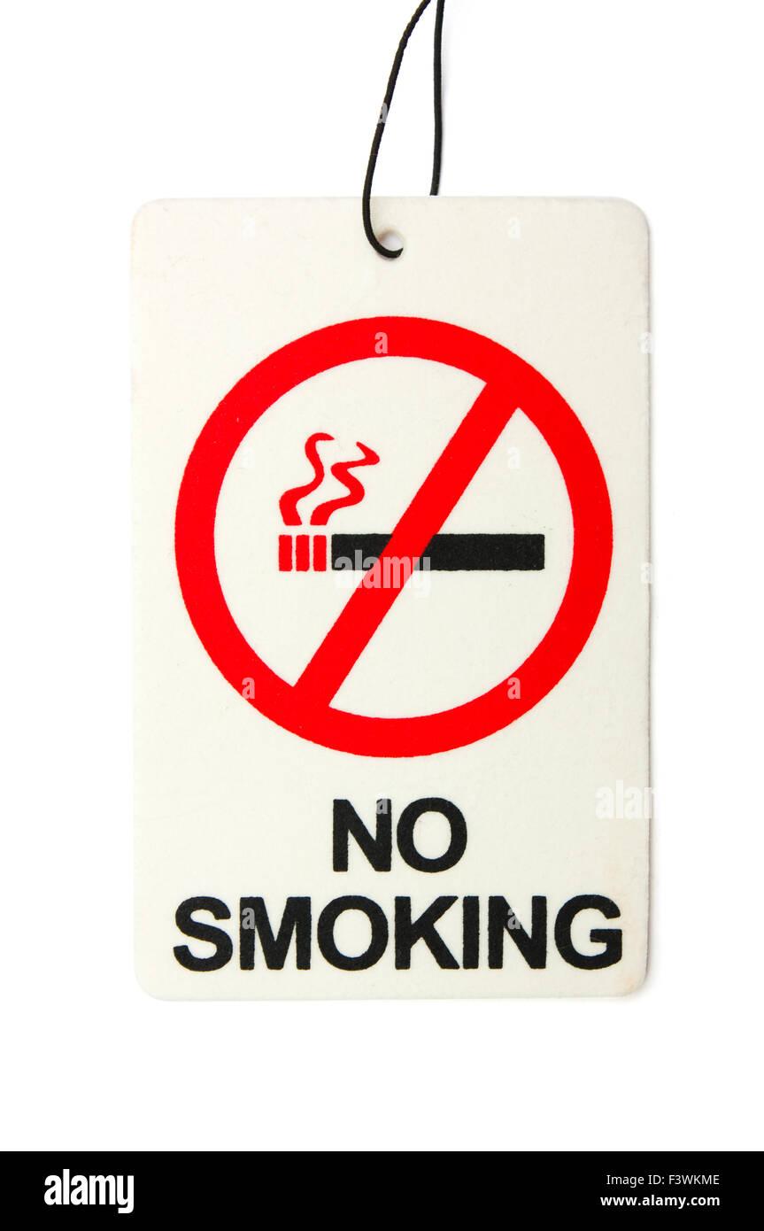 Segno dei pericoli del fumo Immagini Stock