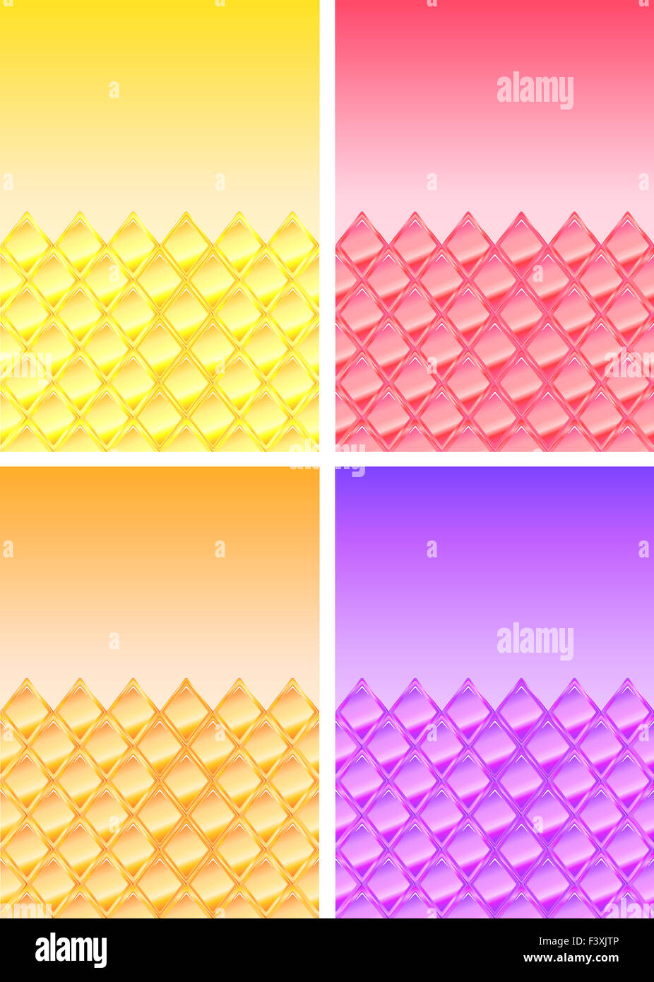 Gli sfondi con illustrazione rhombes Immagini Stock