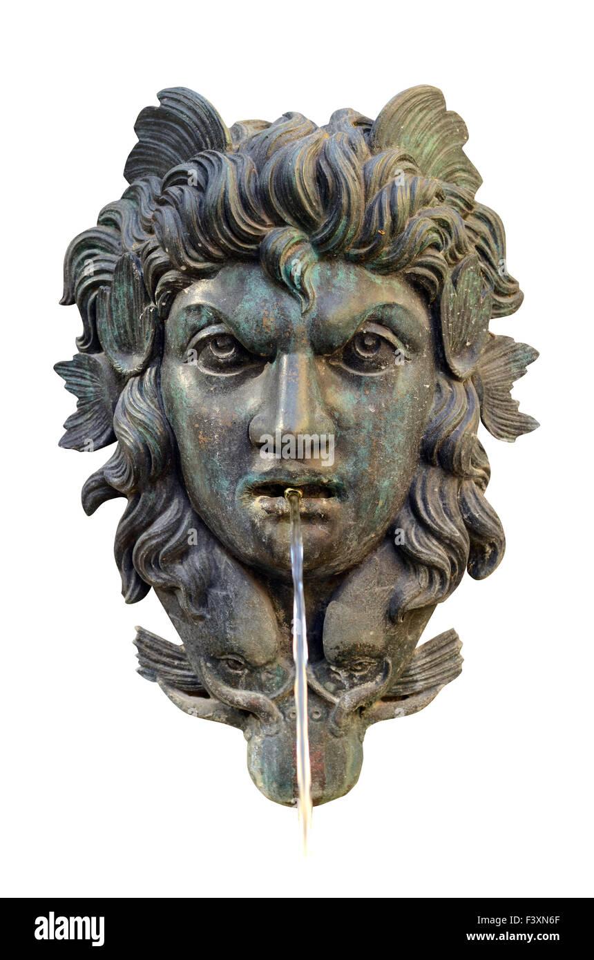 Mitologico Fontana viso Immagini Stock