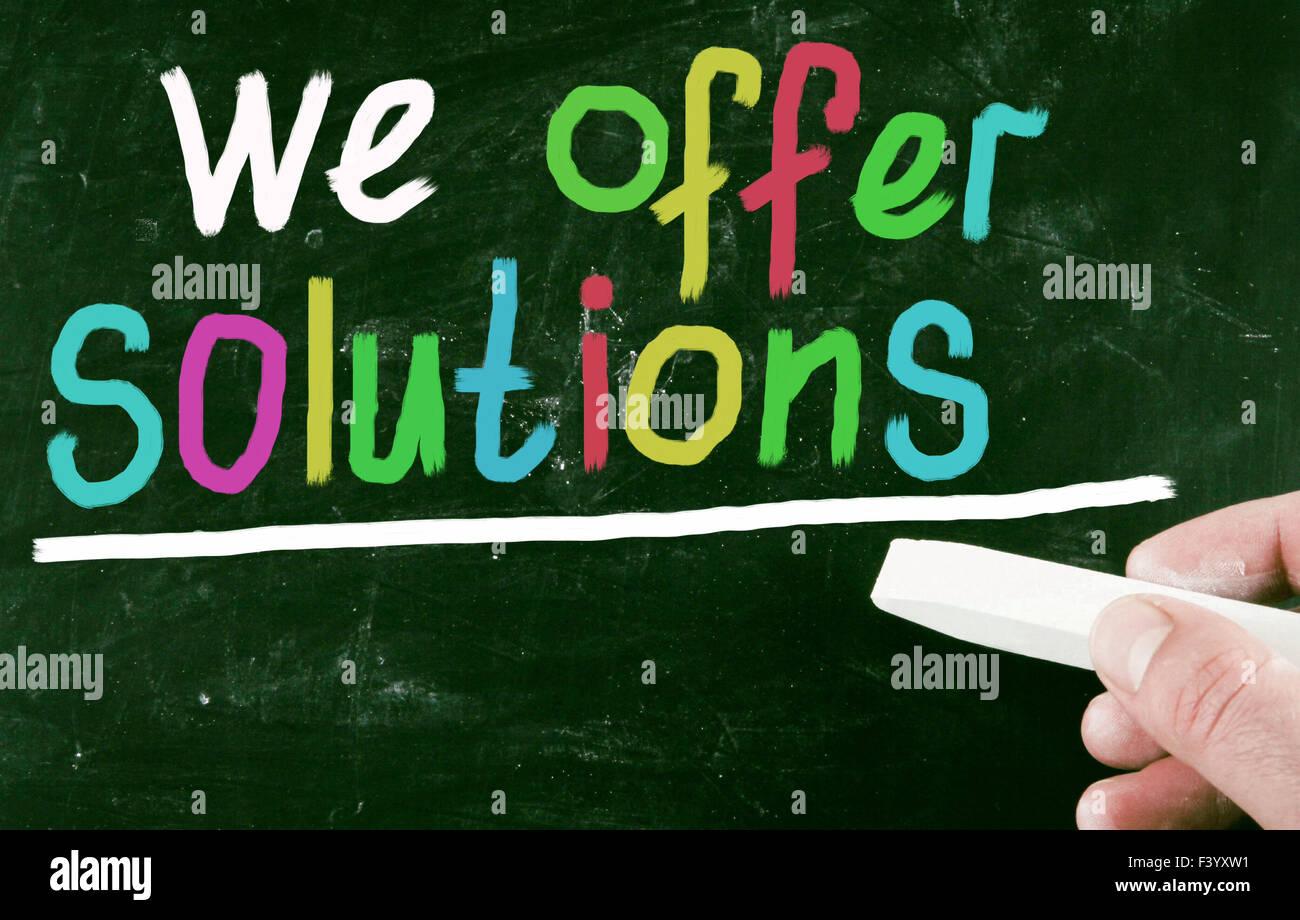 Siamo in grado di offrire soluzioni Immagini Stock