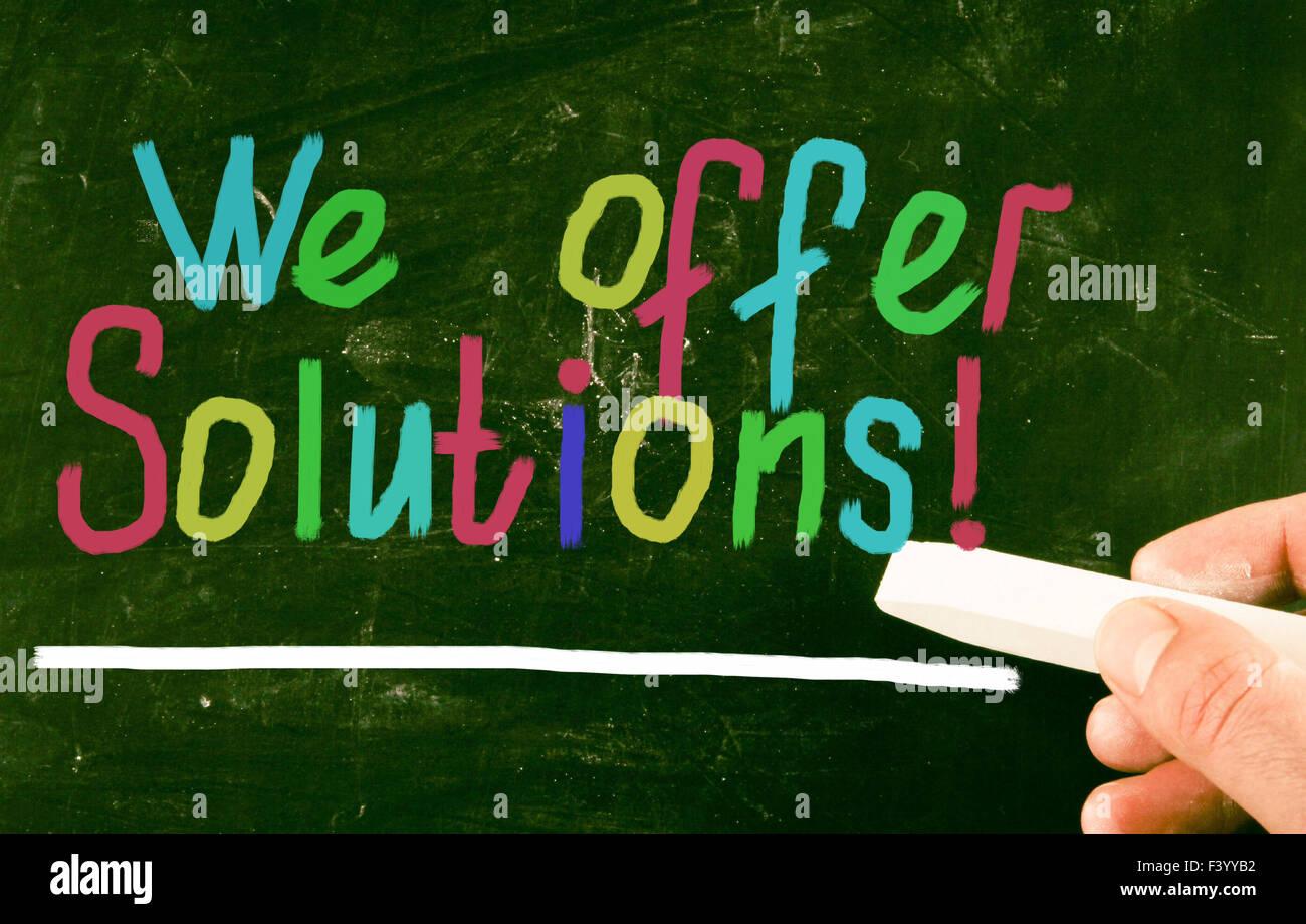 Offriamo soluzioni! Immagini Stock