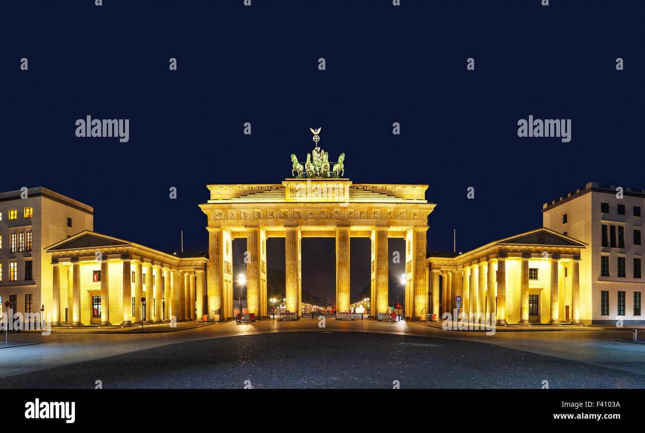 La porta di Brandeburgo a Berlino, Germania Immagini Stock