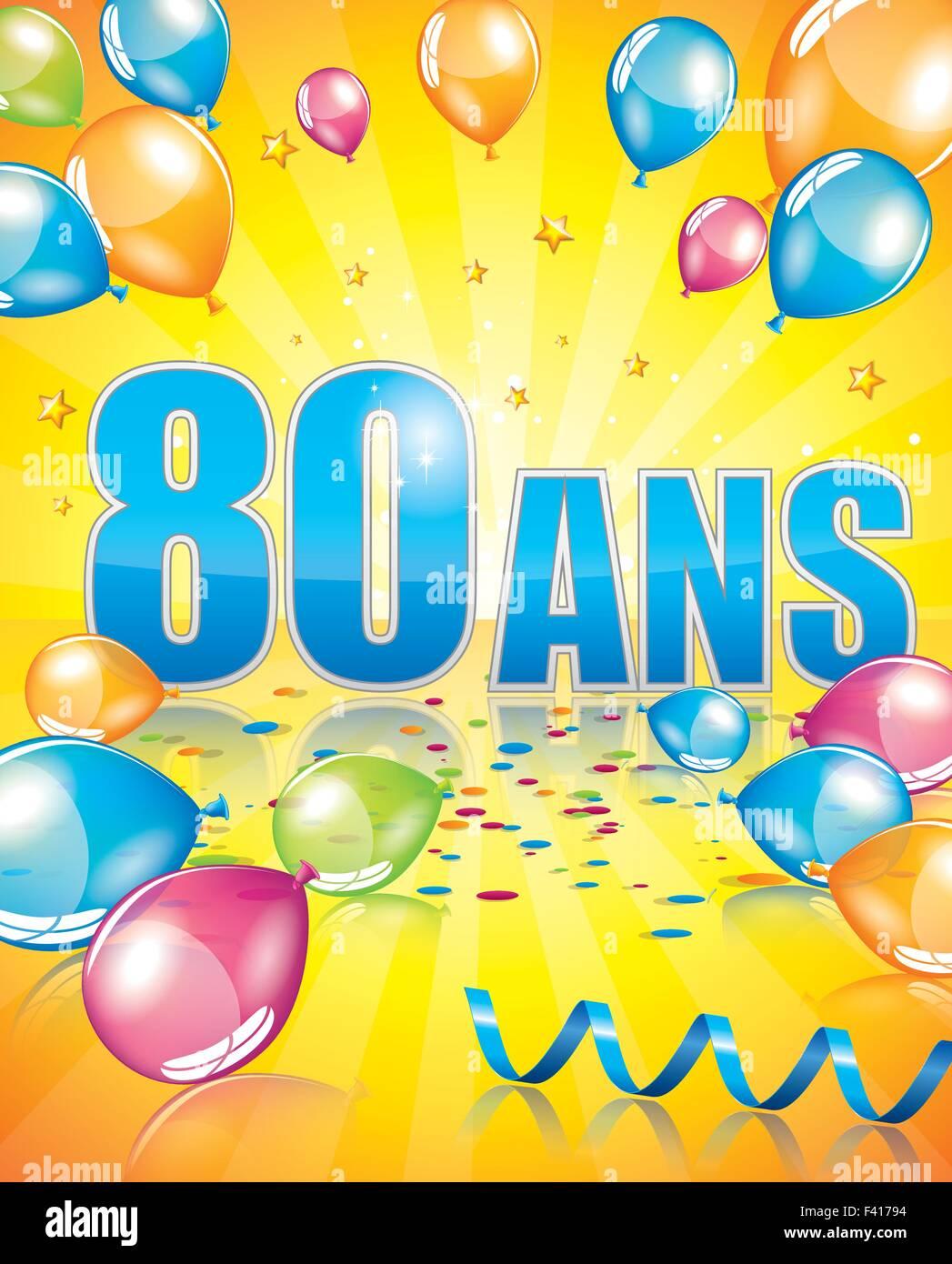Biglietti Auguri Buon Compleanno 80 Anni.Il Francese Biglietto Di Auguri Di Compleanno 80 Anni