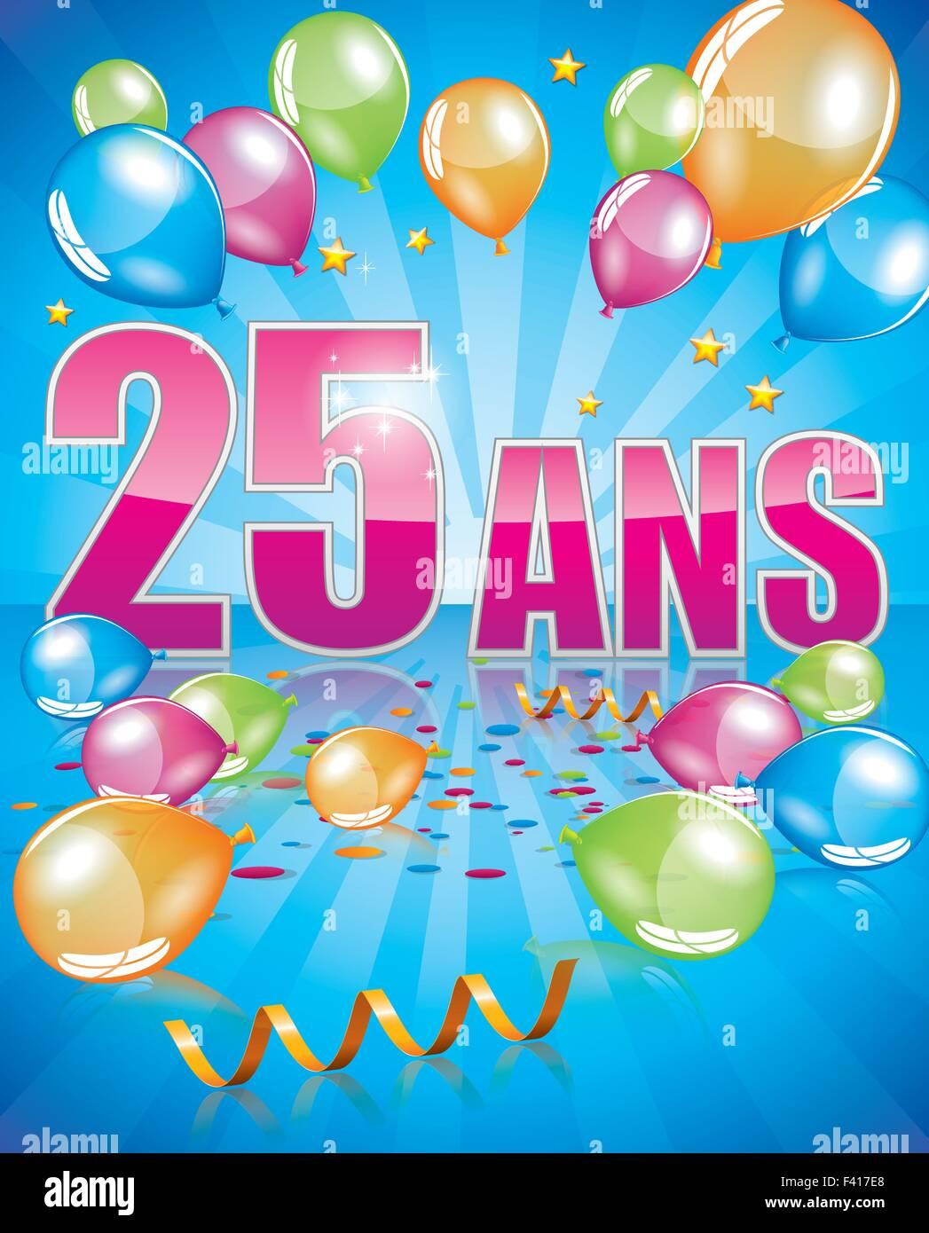 il francese biglietto di auguri di compleanno 25 anni