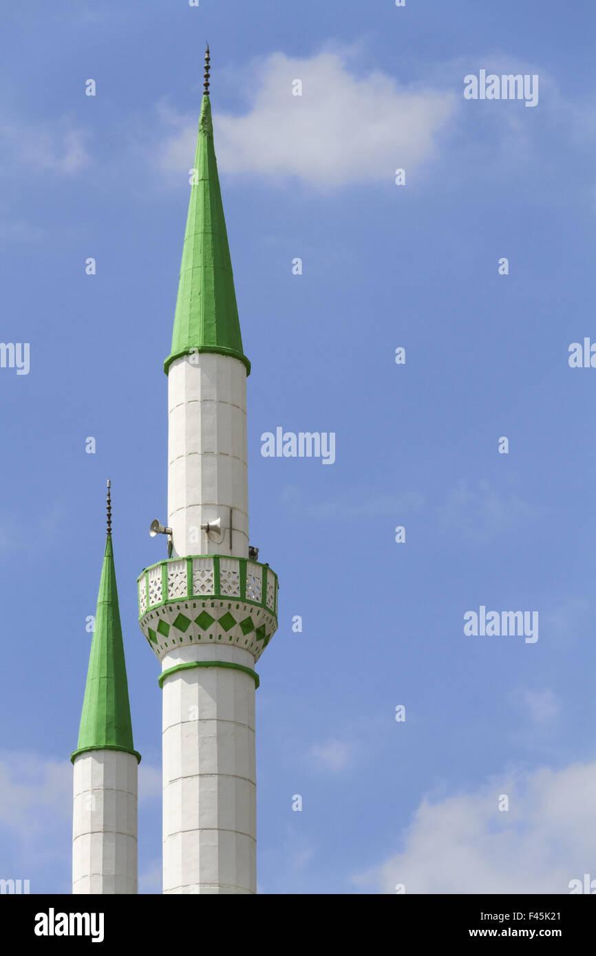 Minareto in Ismir Foto Stock