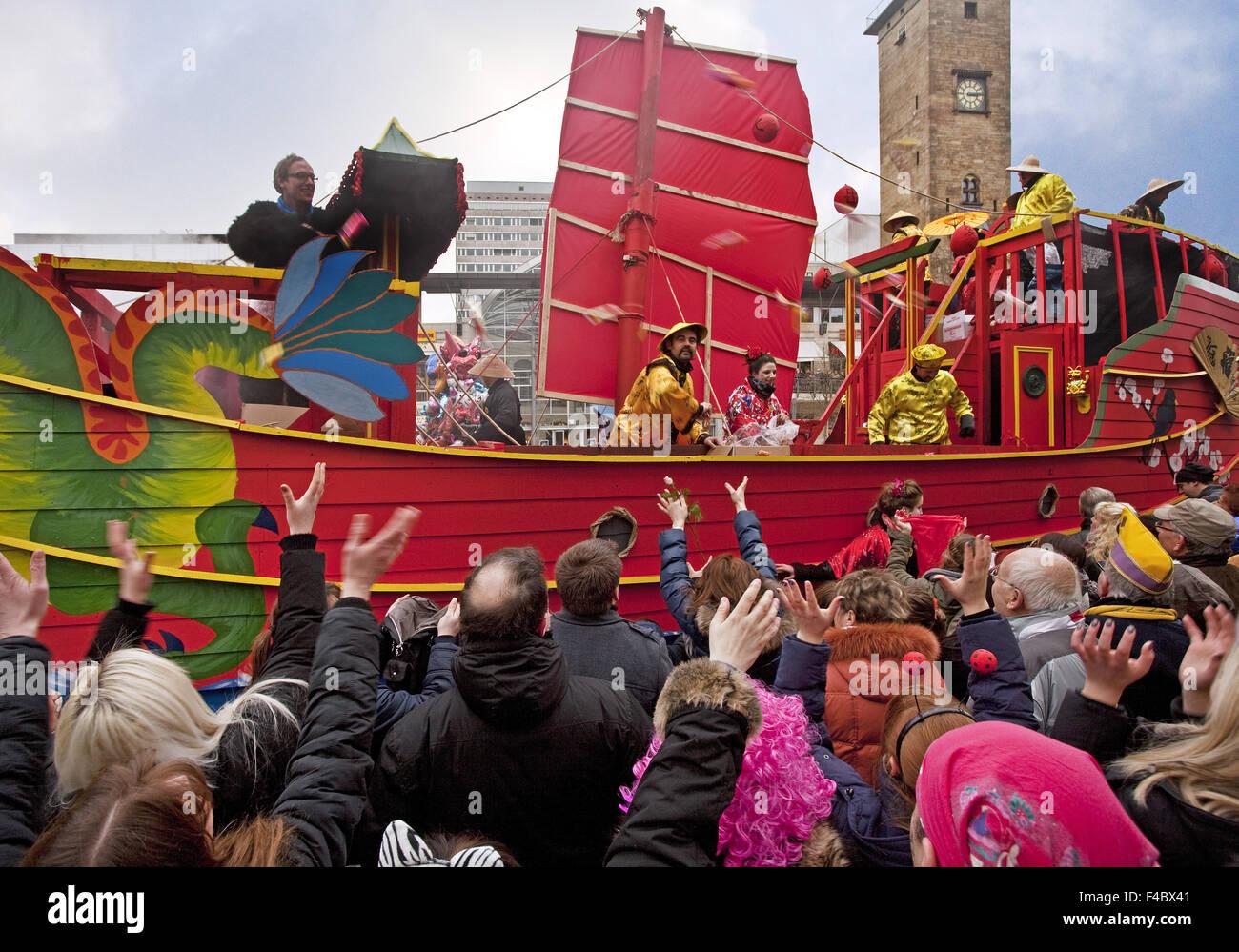 Sfilata di Carnevale, Hagen, Germania Immagini Stock