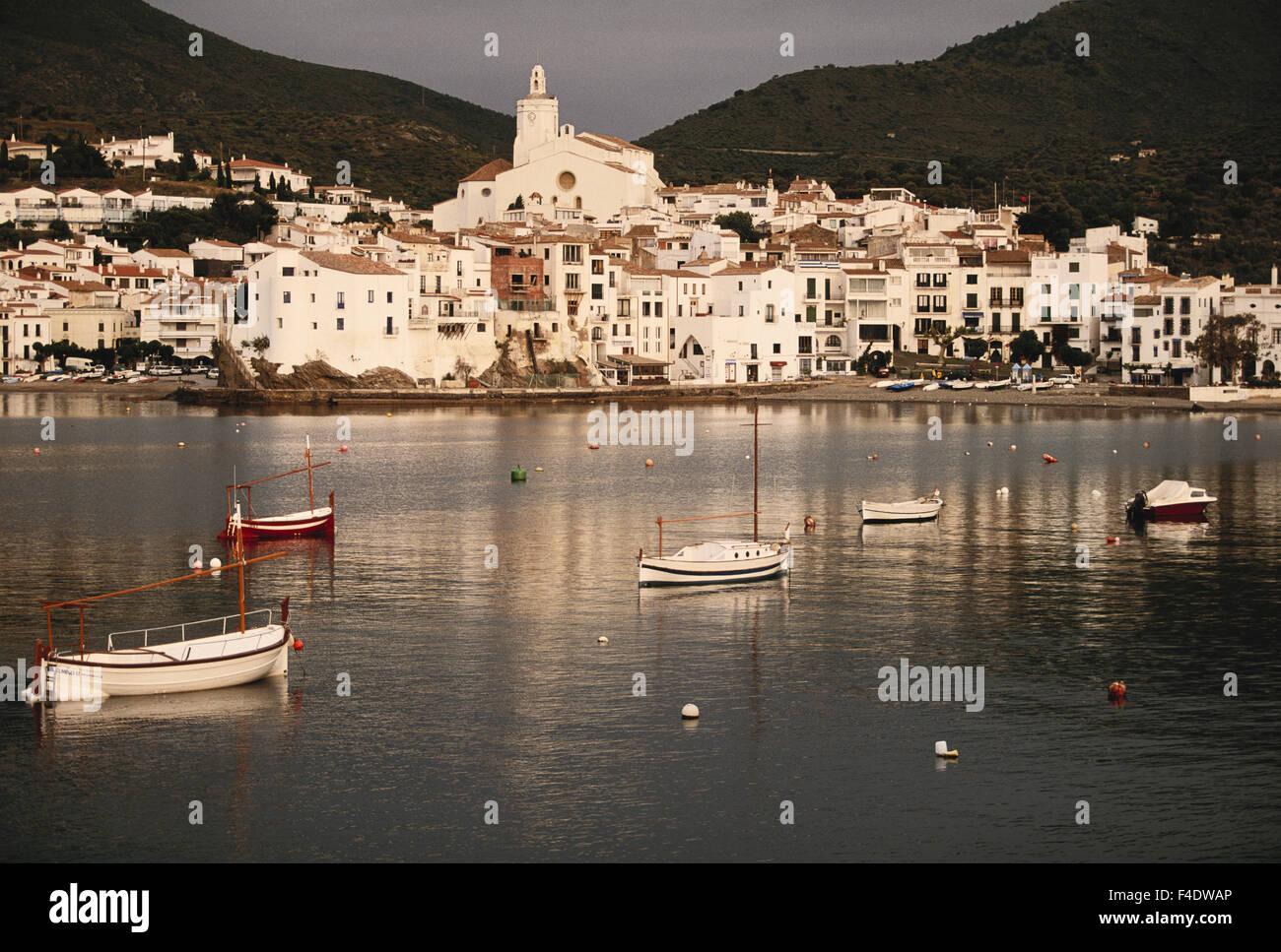 In Spagna, in Catalogna, Costa Brava. barche. (Grandi dimensioni formato disponibile) Immagini Stock