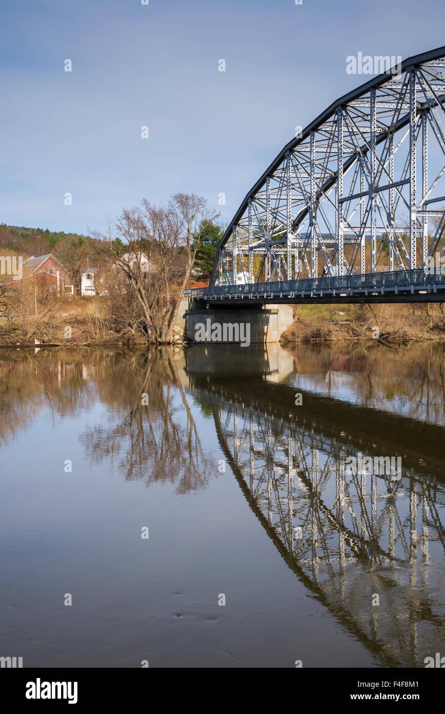 Vermont, Bradford, Route 25 ponte sul fiume Connecticut Immagini Stock