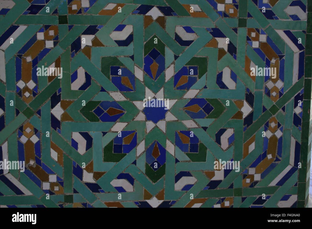 Marocchino piastrella mosaico decorazione ceramica della moschea