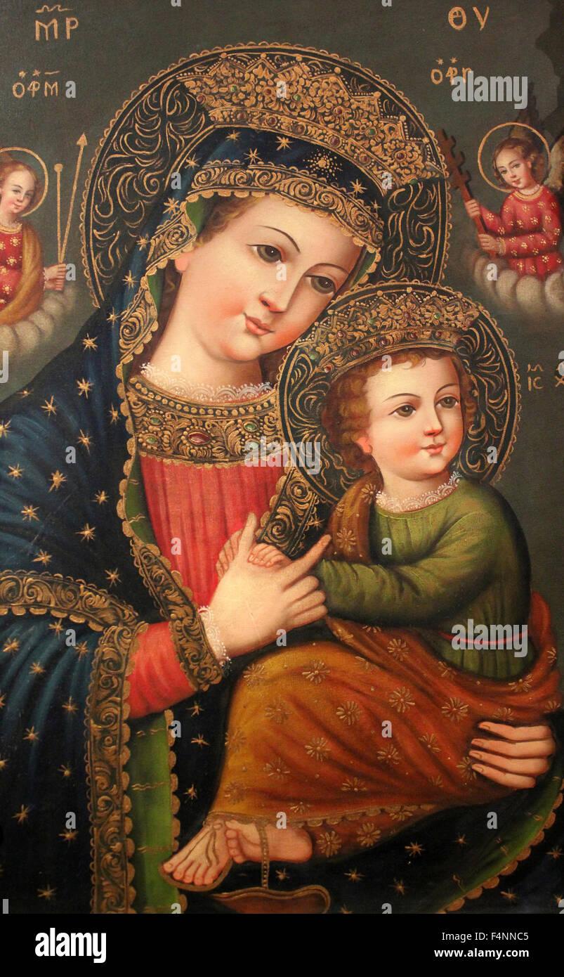 Peruviano di arte religiosa Immagini Stock
