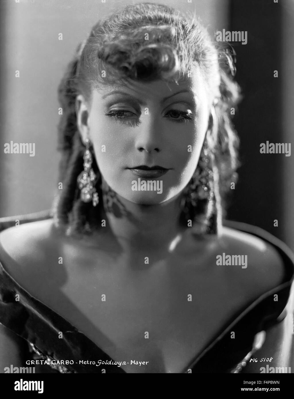 Greta Garbo / romanticismo 1930 diretto da Clarence Brown Immagini Stock