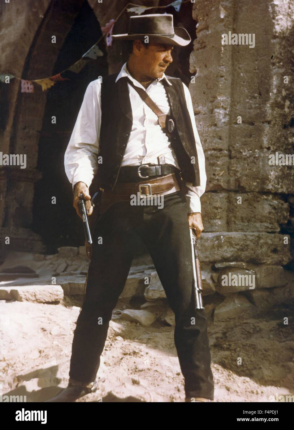 William Holden / il Wild Bunch 1969 diretto da Sam Peckinpah Immagini Stock