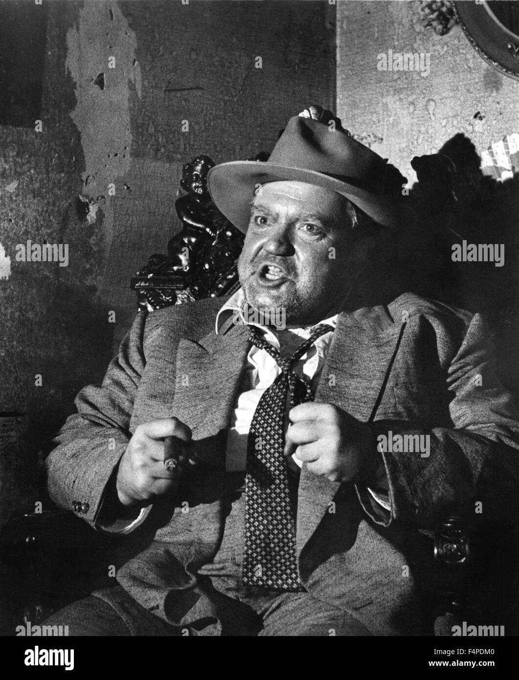 Orson Welles / Touch del male 1958 diretto da Orson Welles Immagini Stock