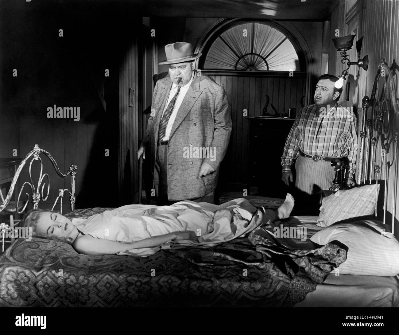 Orson Welles, Janet Leigh / Touch del male 1958 diretto da Orson Welles Immagini Stock