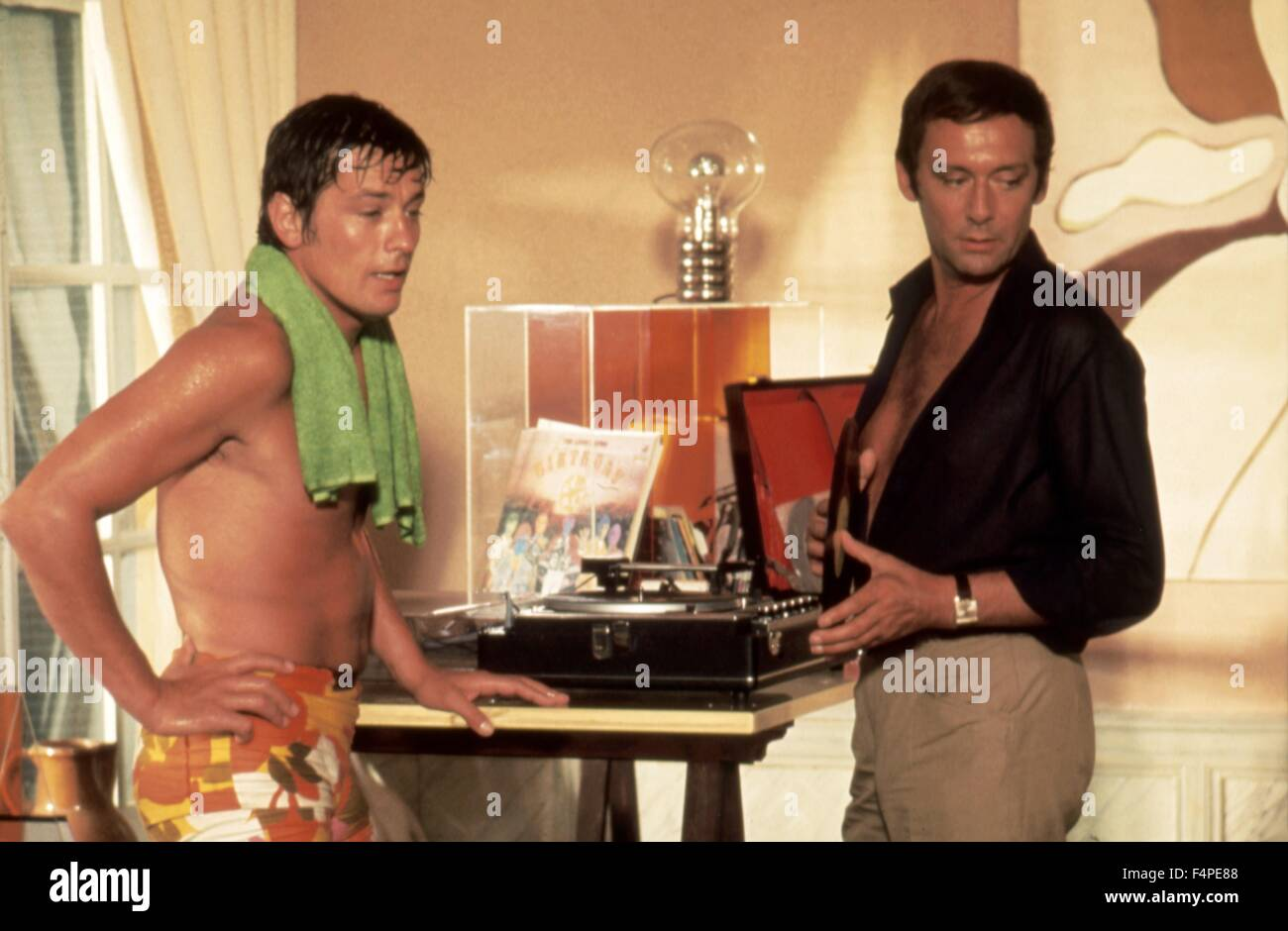 Alain delon e maurice ronet la piscine 1968 diretto da for Alain delon la piscine streaming