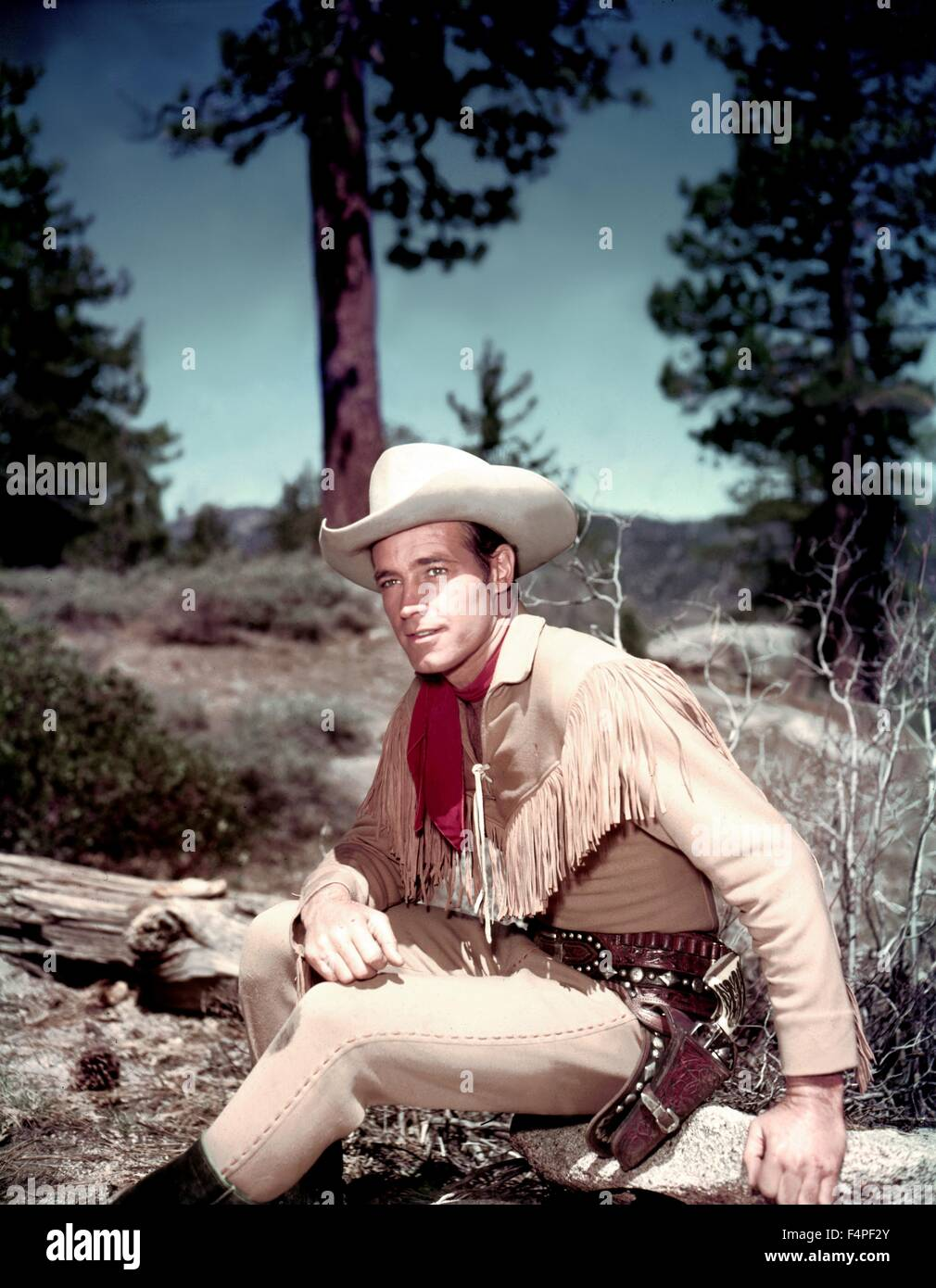 Guy Madison / Avventure di Wild Bill Hickok (Serie TV 1951-1958) / 1958 Immagini Stock
