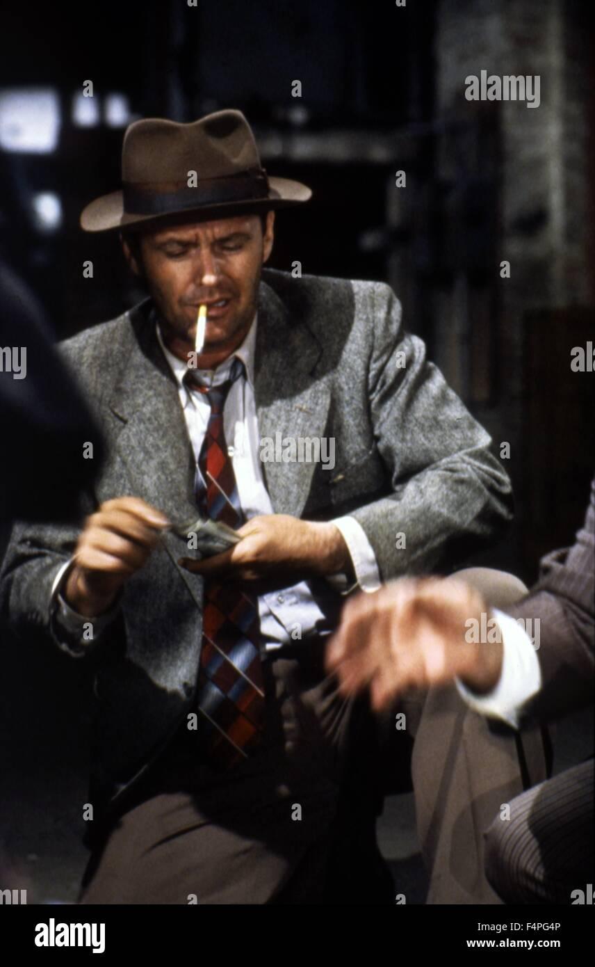 Jack Nicholson / Il postino anelli sempre due volte / 1981 diretto da Bob Rafelson Immagini Stock