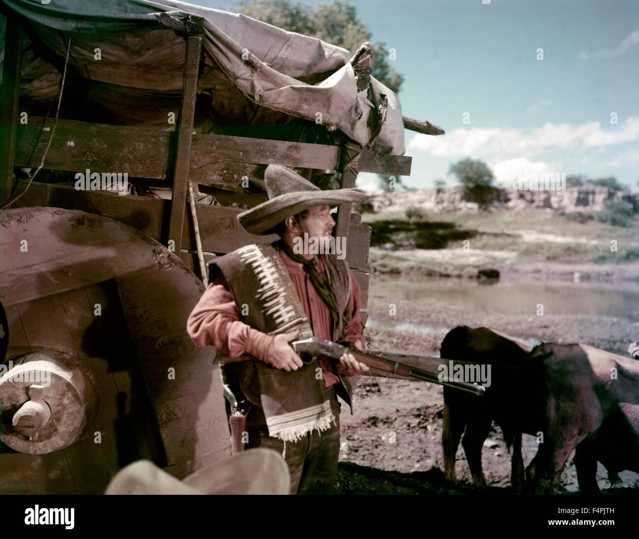 Robert Mitchum / il meraviglioso paese / 1959 diretto da Robert Parrish [United Artists] Immagini Stock