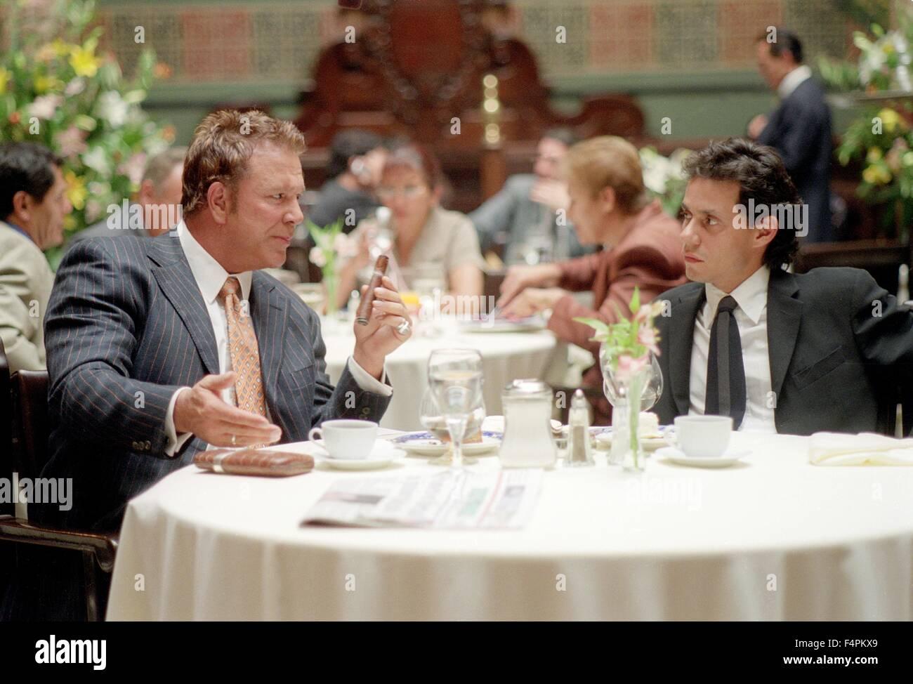Mickey Rourke e Marc Anthony / Man on Fire / 2004 diretto da Tony Scott [Twentieth Century Fox / Regency] Immagini Stock