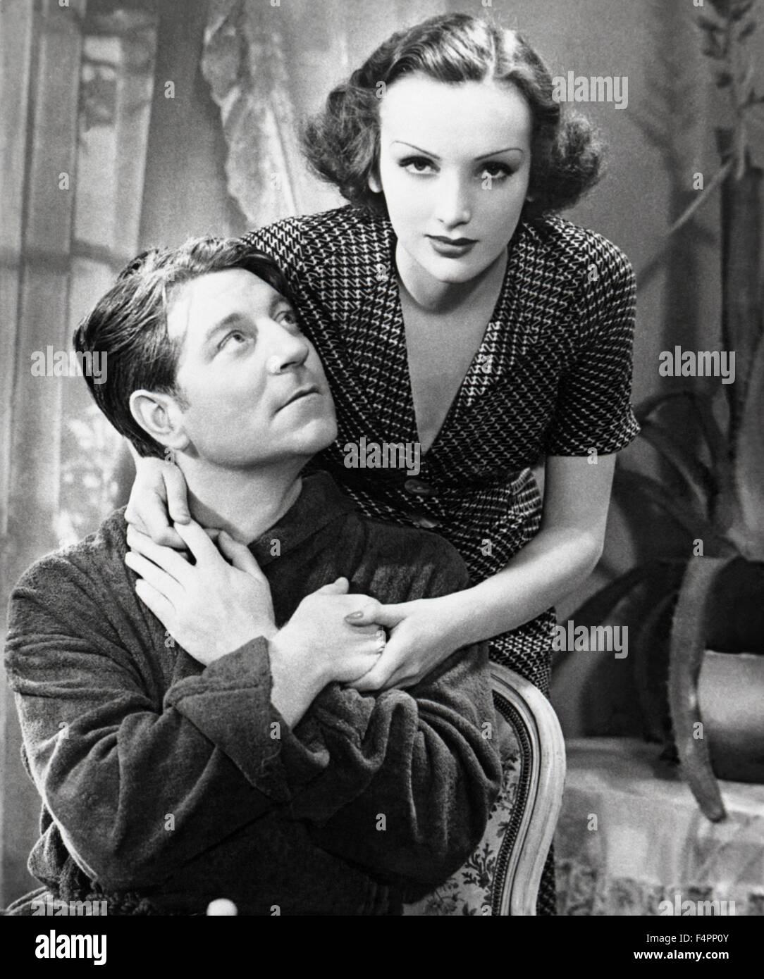 Jean Gabin e Mireille Balin / Lady Killer / 1937 diretto da Jean Gremillon Immagini Stock