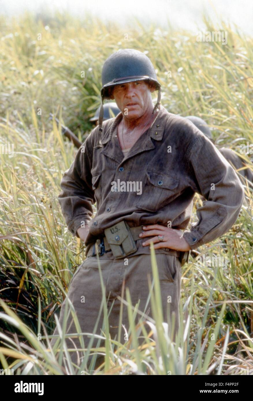 Nick Nolte / La sottile linea rossa / 1998 diretto da Terrence Malick [Twentieth Century Fox Film corpo] Immagini Stock