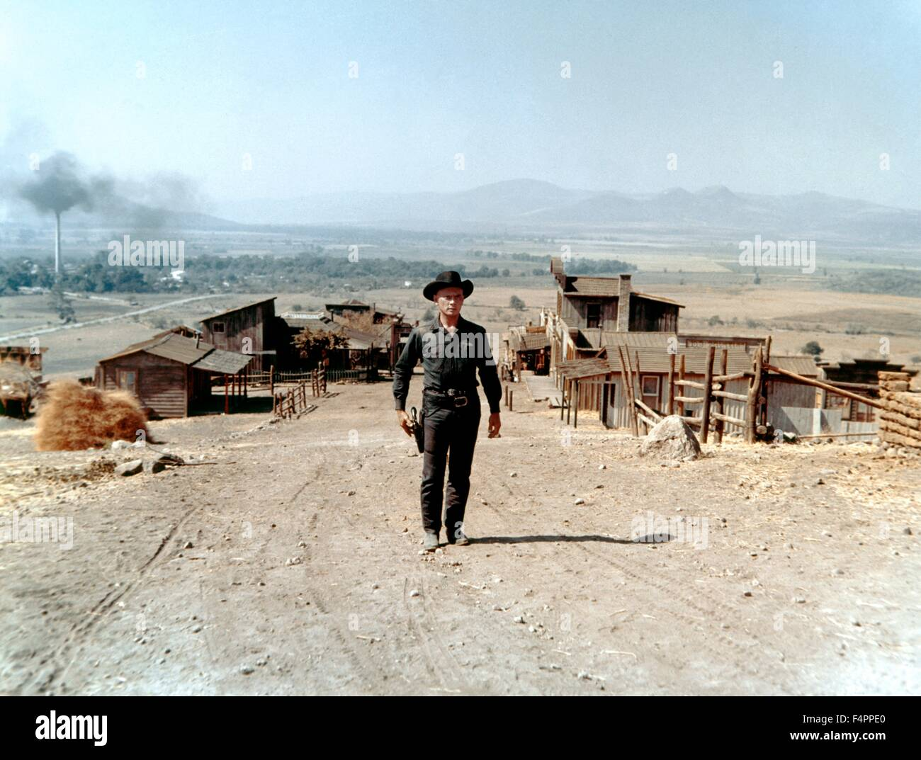 Yul Brynner / I magnifici sette / 1960 diretto da John Sturges [United Artists] Immagini Stock