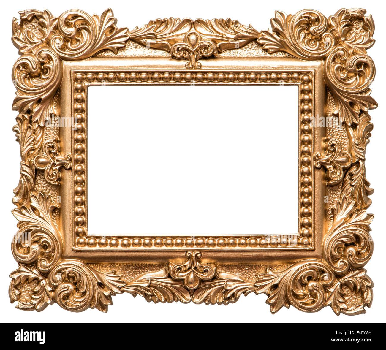 51977a664ab Lo stile barocco golden picture frame. Vintage oggetto d arte isolati su  sfondo bianco