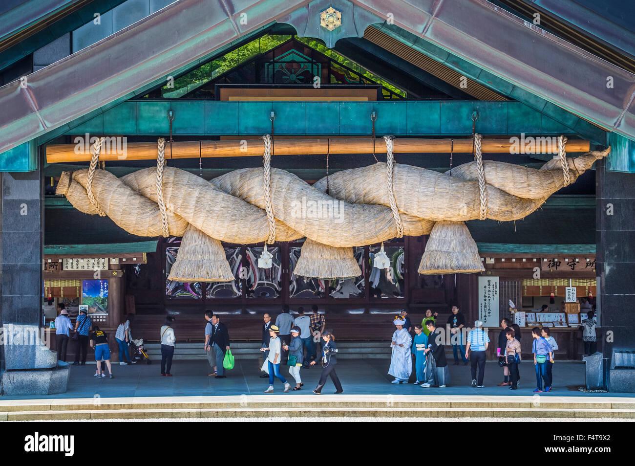 Giappone, Shimane Provincia, Città Izumo, Izumo Taisha Immagini Stock