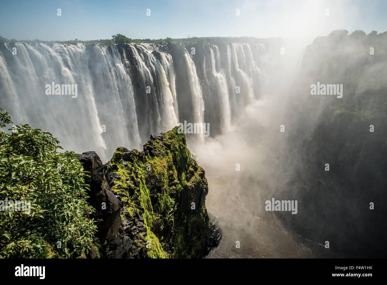 Victoria Falls, dello Zimbabwe - Victoria Falls Cascate Immagini Stock