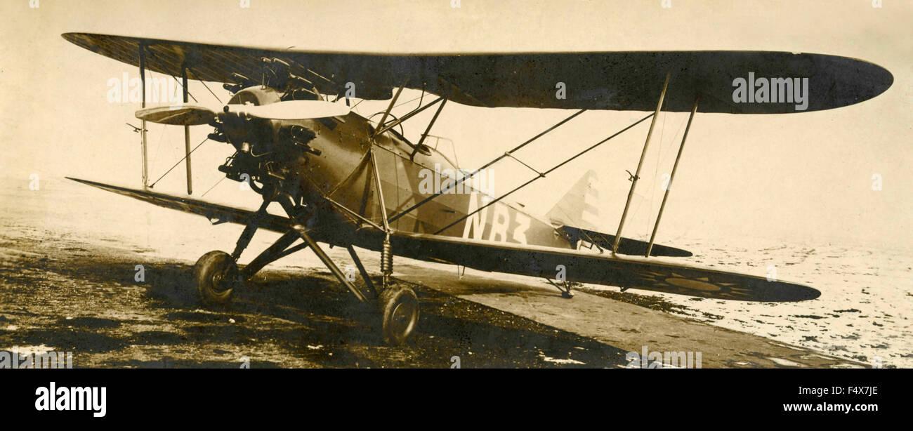Air Trainer biplanare Breda Ba.25, Italia Immagini Stock