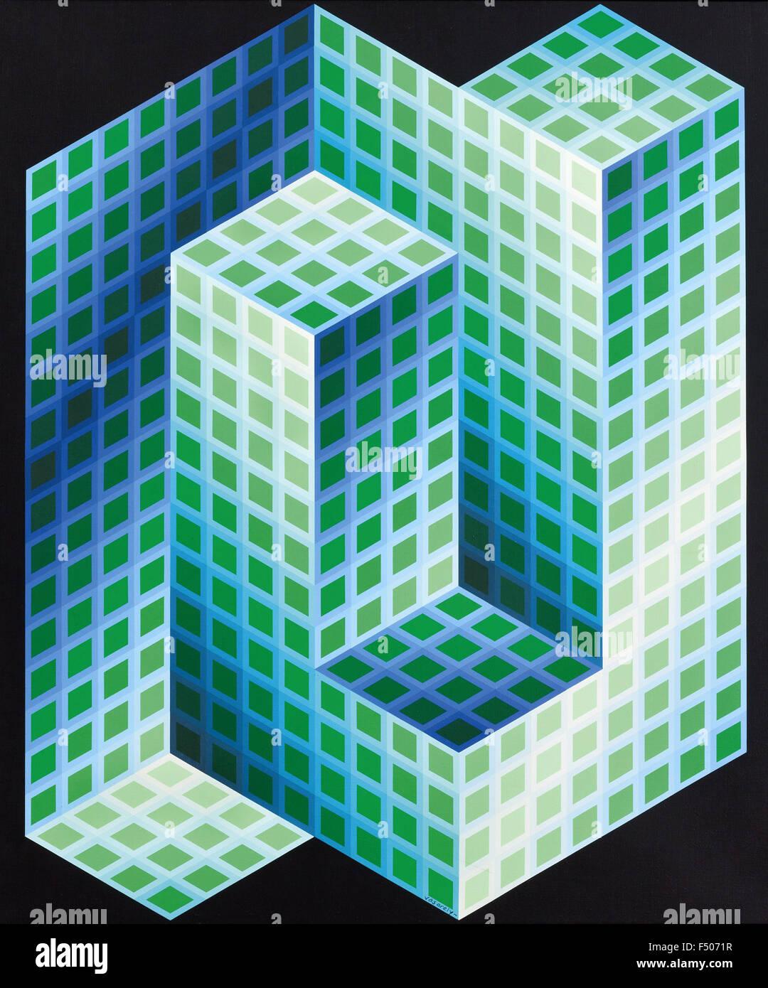 Victor Vasarely - Gestalt Hideg Immagini Stock